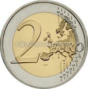 Cyprus 2 Euro (30th Anniversary of the Flag of Europe (Coloured)) 2 EURO LL coin obverse
