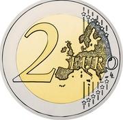 Greece 2 Euro 50th Anniversary of the Treaty of Rome 2007 KM# 216 2 EURO coin reverse