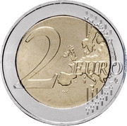 Greece 2 Euro 50th Anniversary of the Union of the Ionian Islands with Greece 2014 KM# 260 2 EURO coin reverse