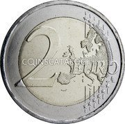 Greece 2 Euro (70 Years Since the Union of the Dodecanese with Greece) 2 EURO LL coin reverse