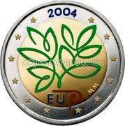 Finland 2 Euro (Enlargement of the European Union (Coloured)) 2004 EU MM coin reverse