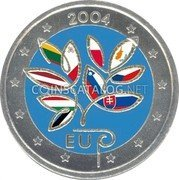 Finland 2 Euro (Enlargement of the European Unioт (Coloured 3)) 2004 EU MM coin reverse