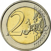 Greece 2 Euro Europa abducted by Zeus 2008 KM# 215 2 EURO LL coin reverse