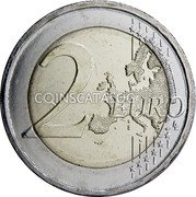Greece 2 Euro (Kostis Palamas - 75 years in Memoriam) 2 EURO LL coin reverse
