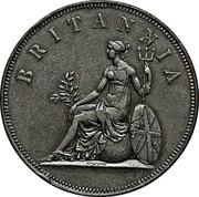 Greece 2 Oboli Britannia 1819 KM# 33 BRITANNIA coin reverse