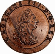 Australia 2 Pence (Proclamation coin - British Penny) GEORGIUS III D G REX coin obverse