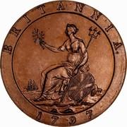 Australia 2 Pence (Proclamation coin - British Penny) BRITANNIA 1797 coin reverse