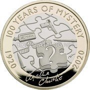 UK 2 Pounds (100th Anniversary of First Novel of Dame Agatha Christie) 100 YEARS OF MYSTERY 1920 2020 coin reverse