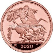 UK 2 Pounds (George III privy mark) 2020 coin reverse