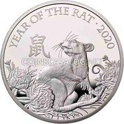 UK 2 Pounds (Year of the Rat) YEAR OF THE RAT · 2020 鼠 PJL coin reverse