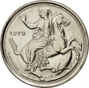 Greece 20 Drachmai 21 April 1967 Revolution 1973 KM# 111.3 1973 N.ΠΕΡΑΝΤΙΝΟΣ coin obverse