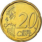Greece 20 Euro Cent Ioannis Kapodistrias 2008 KM# 212 20 EURO CENT coin reverse