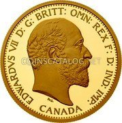 Canada 200 Dollars (110th Anniversary of the Royal Canadian Mint) EDWARDVS VII D: G: BRITT: OMN: REX F: D: IND: IMP: CANADA coin obverse