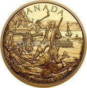 Canada 200 Dollars (New France) 200 DOLLARS♦2020 coin reverse