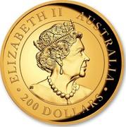 Australia 200 Dollars Wedge-Tailed Eagle 2020 Proof ELIZABETH II AUSTRALIA 200 DOLLARS coin obverse