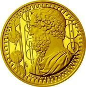 Greece 200 Euro Philosophers - Archimedes 2015 Proof KM# 279 ΕΛΛΗΝΙΚΗ ΔΗΜΟΚΡΑΤΙΑ 200 ΕΥΡΩ 2015 coin obverse
