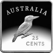 Australia 25 Cents 100 Anniversary of 1919-1921 Kookaburra Patterns 2019 AUSTRALIA 25 CENTS coin reverse