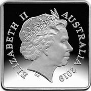 Australia 25 Cents 100th Anniversary of 1919-1921 Kookaburra Patterns 2019 ELIZABETH II AUSTRALIA 2019 coin obverse