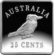 Australia 25 Cents 100th Anniversary of 1919-1921 Kookaburra Patterns 2019 AUSTRALIA 25 CENTS coin reverse