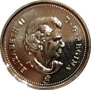 Canada 25 Cents Edmonton Oilers 2007 Proof D G REGINA / ELIZABETH II / SB coin obverse