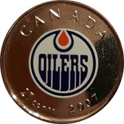 Canada 25 Cents Edmonton Oilers 2007 Proof 2007 / 25 CENTS / CANADA coin reverse