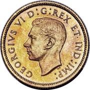 Canada 25 Cents George VI Trial Strike Thick planchet 1937 KM# TS8 GEORGIVS VI D:G:REX ET IND:IMP: coin reverse