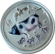 Australia 25 Cents Year of the Pig 2019 AH P YEAR OF THE PIG coin reverse