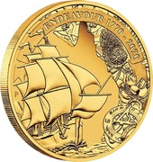 Australia 25 Dollars 250th anniversary of The Endeavour 2020 P Proof ENDEAVOUR 1770-2020 coin reverse