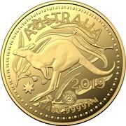 Australia 25 Dollars (4th Portrait - Kangaroo) AUSTRALIA 2019 1/4 OZ .9999 AU coin reverse