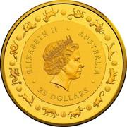 Australia 25 Dollars 6th Portrait - Year of the Rat 2020 BU ELIZABETH II • AUSTRALIA IRB • 25 DOLLARS • coin obverse