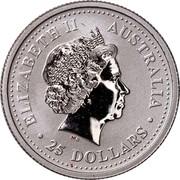 Australia 25 Dollars Koala (Colored) 2000 Proof ELIZABETH II AUSTRALIA 25 DOLLARS coin obverse