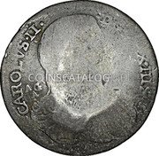 Greece 25 Paras (1814) KM# 18 Countermarked Coinage coin obverse