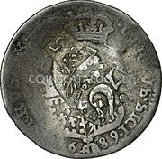 Greece 25 Paras (1814) KM# 18 Countermarked Coinage coin reverse