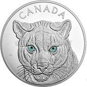 Canada 250 Dollars (Eyes of the Cougar) CANADA coin reverse