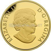 Canada 250 Dollars (Purple Coneflower and Eastern Tailed Blue Butterfly) ELIZABETH II D•G•REGINA coin obverse