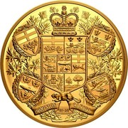 Canada 2500 Dollars Reimagined 1905 Arms of Dominion of Canada 2020 DOMINION OF/DU CANADA coin reverse