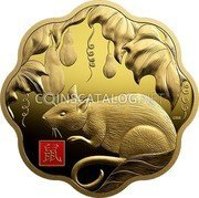 Canada 2500 Dollars (Year of the Rat) CRR 鼠 coin reverse