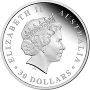 Australia 30 Dollars Koala 2015 Proof ELIZABETH II AUSTRALIA IRB ∙ 30 DOLLARS ∙ coin obverse