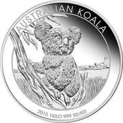 Australia 30 Dollars Koala 2015 Proof AUSTRALIAN KOALA P 2015 1 KILO 999 SILVER coin reverse