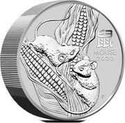 Australia 30 Dollars Year of the Mouse 2020 P MOUSE 2020 P coin reverse