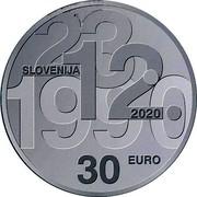 Slovenia 30 Euro 30th anniversary of plebiscite on sovereignty and independence 2020 23.12.1990 SLOVENIJA 2020 30 EURO coin obverse