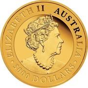 Australia 3000 Dollars 6th Portrait - Australian Wedge-Tailed Eagle 2019 P Proof ELIZABETH II AUSTRALIA JC 3000 DOLLARS coin obverse