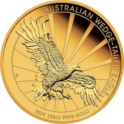 Australia 3000 Dollars 6th Portrait - Australian Wedge-Tailed Eagle 2019 P Proof AUSTRALIAN WEDGE-TAILED EAGLE P 2019 1KILO 9999 GOLD coin reverse