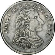 USA 4 Reales Carlos III ND (1760)  CARLOS. III. D. G. HISPAN. REX. coin obverse
