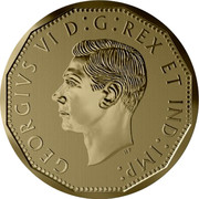 Canada 5 Cents The Victory Nickel 2020 GEORGIVS VI D:G: REX ET IND: IMP: coin obverse