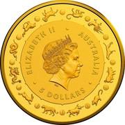 Australia 5 Dollars 6th Portrait - Year of the Rat 2020 BU ELIZABETH II • AUSTRALIA IRB • 5 DOLLARS • coin obverse