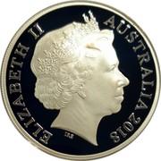 Australia 5 Dollars Invictus Games Sydney 2018 Proof ELIZABETH II AUSTRALIA 2018 coin obverse