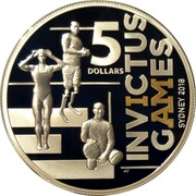 Australia 5 Dollars Invictus Games Sydney 2018 Proof INVICTUS GAMES SYDNEY 2018 5 DOLLARS coin reverse