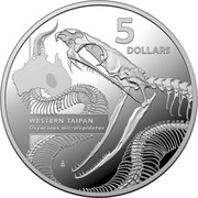 Australia 5 Dollars Western Taipan 2020 5 DOLLARS WESTERN TAIPAN OXYURANUS MICROLEPIDOTUS coin reverse