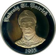 Ireland 5 ECU Bodroig St. Patrick 1995 Proof X# 35 1995 BODROID ST. PATRICK coin reverse